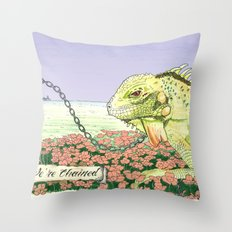 We're Chained Throw Pillow