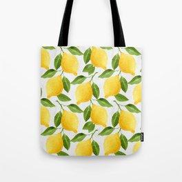 Watercolor Lemons Tote Bag