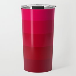 Pink and Red Stripes Travel Mug