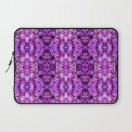 Violet Purple White Flower Pattern Laptop Sleeve