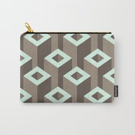 Geometric abstract  Monochrome  #society6 #decor #buyart #artprint Carry-All Pouch