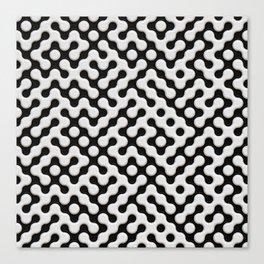 Black & White Truchet Tilling Mosaic Canvas Print