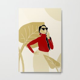 sunglasses woman Metal Print