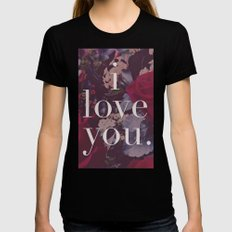 i love you. Womens Fitted Tee MEDIUM Black