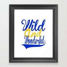 Wild and Wonderful WV Framed Art Print