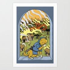 Sir Mittens Fails the Village Art Print