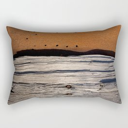 Rust & Old Wood Rectangular Pillow