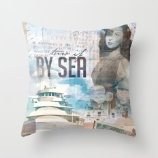 By Sea Throw Pillow