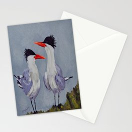 Two Royal Terns Stationery Cards