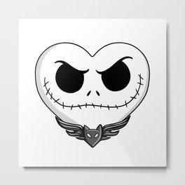 Jack Skellington Heart Art Metal Print