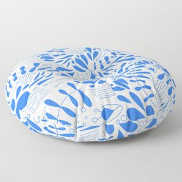 Flora in Blue Floor Pillow