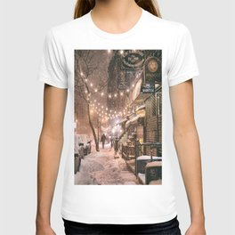 Snow - New York City - East Village T-shirt