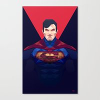 superman Canvas Prints featuring Superman by Muito