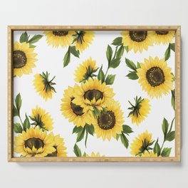 Lovely Sunflower Serving Tray