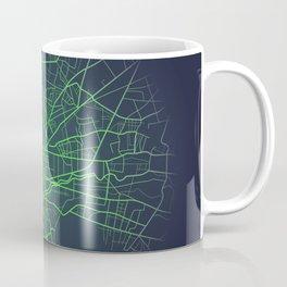 Monterrey Mexico city map digital illustration Coffee Mug