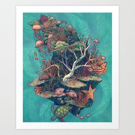 Coral Communities Art Print