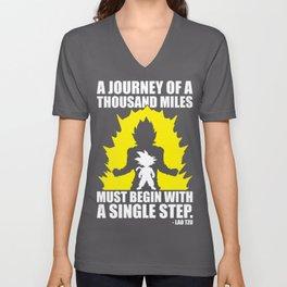 A Journey Of A Thousand Miles (Goku) Unisex V-Neck
