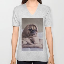 Snug pug in a rug Unisex V-Neck