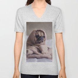 Snug pug in a rug Unisex V-Neck