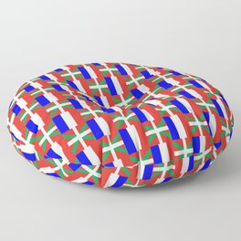 mix of flag: France and euskal herria Floor Pillow