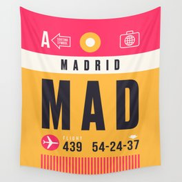 Baggage Tag A - MAD Madrid Barajas Spain Wandbehang