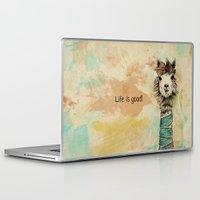 lama Laptop & iPad Skins featuring Lama by Anastasia Tayurskaya
