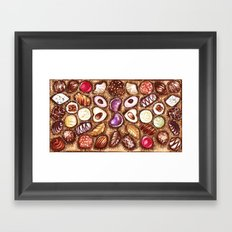 Chocolates for my sweety Framed Art Print