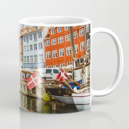 Copenhagen Nyhavn Canal with Colorful Houses Coffee Mug