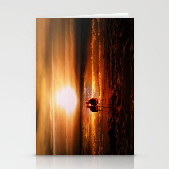 Seagulls - Lovebirds at Sunset Stationery Cards