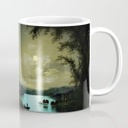 Classical Masteripiece 'A Castle and Lake by Moonlight' by Abraham Pether Coffee Mug