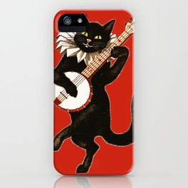 Black Cat for Halloween with Red iPhone Case