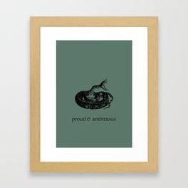 proud & ambitious (Hogwarts houses) Framed Art Print