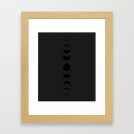 moon in darkness Framed Art Print