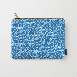 Microchip Pattern (Blue) Carry-All Pouch
