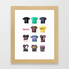 the t shirt style!!! Framed Art Print