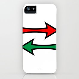 Left And Right Direction Arrows iPhone Case