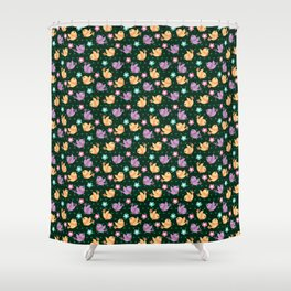 Freely Birds Flying - Fly Away Version 2 - Basil Color Shower Curtain