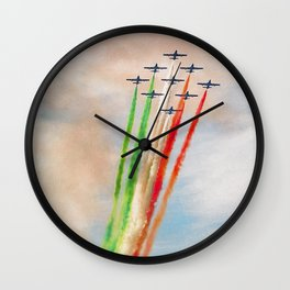 Frecce Tricolori in action Wall Clock