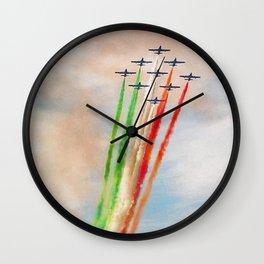 Frecce Tricolori in action Wall Clock
