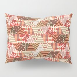 Triangle Fall Autumn Pattern Pillow Sham