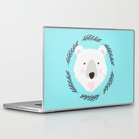 polar bear Laptop & iPad Skins featuring polar bear by Taranta Babu