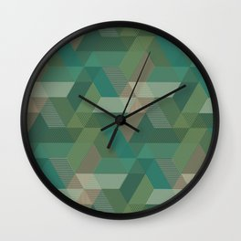 Patchwork Parallelograms Pattern Wall Clock
