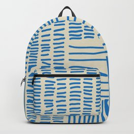 Digital Stitches thick beige + blue Backpack