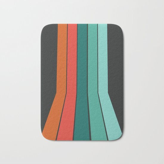 Flipside - 70's style trendy throwback retro gifts 1970s abstract art Bath Mat