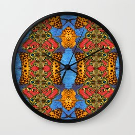 Sacred butterfly geometry II Wall Clock