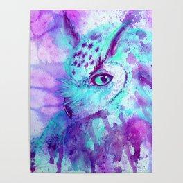 purple owl Poster