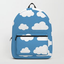 White clouds on a blue skies Backpack