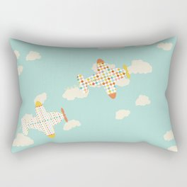 Flying By Rectangular Pillow