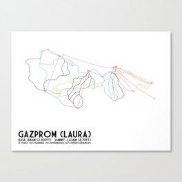 Gazprom (Laura) Mountain Resort, Sochi, Russia - North American Edition - Minimalist Trail Art Canvas Print