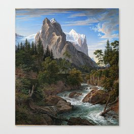 Joseph Anton Koch Reichenbach Valley Mountains Canvas Print